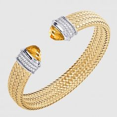 MLC8297YWZCT - CITRINE & CZ, DOWNTOWN, 12MM Cartier, Gold Jewelry, Cuff Bracelets, Wedding Rings, Engagement Rings, Jewels, Enagement Rings, Jewerly, Gold Jewellery