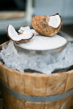 Fresh coconut as a treat for our guests during cocktail hour - they loved it! So refreshing, and so Mexican!  #eventdesign  #mariannaidirin  #celebration  #eventplanner #weddingplanner #eventdesign #weddingdesign  #cabo  #cabosanlucas  #mexico  #baja  #love #beautiful  #romance #blue #decor #details #weddinginspiration  #wedspiration #cabowedding #destinationwedding #loscaboswedding #caboweddingplanner #weddingceremony #catering