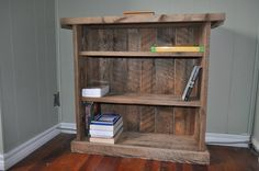 barn board book case - by birddogbuck @ LumberJocks.com ~ woodworking community