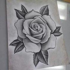 Hergestellt von Stella Luo Tätowierern in Toronto, Kanada - rose tattoos Hai Tattoos, Skull Tattoos, Body Art Tattoos, Sleeve Tattoos, Stencils Tatuagem, Tattoo Stencils, Rose Drawing Tattoo, Tattoo Sketches, Flower Tattoo Designs