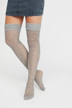 5332b6a20 Free People Outshine Over-The-Knee Sock. Stripes DesignKnee SocksThigh ...