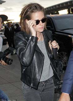 On her way: Kristen Stewart showed up at the airport in Toronto on Sunday evening after spending the day promoting her film Equals at the city's film festival