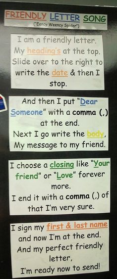This friendly letter song would be a fantastic way to teach these skills and would fit with the habitat unit when students write a letter to an animal asking about its home.