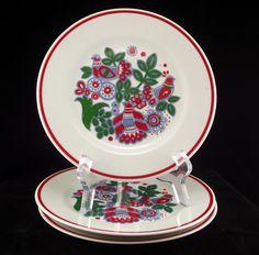 Graf Von Henneberg Porzellan salad plates circa 1990s made in Germany - Porcelain