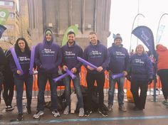 Young Epilepsy supporting their runners at the Virgin London Marathon 2016!