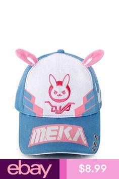 c445c05df35 OW D.va DVA Hat Cosplay Snapback Adjustable Embroidered Baseball Cap Rabbit  Ears