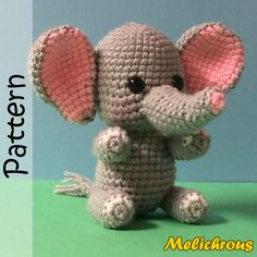 Hey, I found this really awesome Etsy listing at https://www.etsy.com/listing/183532725/erin-the-elephant-pattern-crochet