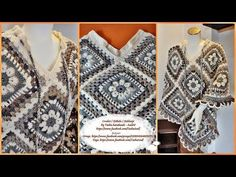 "Learn How To Crochet Granny Square Poncho Bohème - 3. part - Step by step for beginners - YouTube ""Learn How To Crochet Granny Square Poncho Bohème - part"