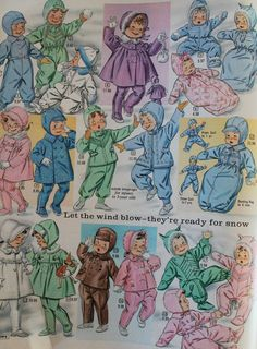 This time I'm featuring the baby section from my Eaton's winter catalogue from 1961 - these are such fun posts to do - I've done two othe. Girls Dresses Tween, Vintage Ads, Vintage Advertisements, Vintage Posters, Kliban Cat, Doll Costume, Cosplay Costumes, Old School Toys, Animal Print Outfits