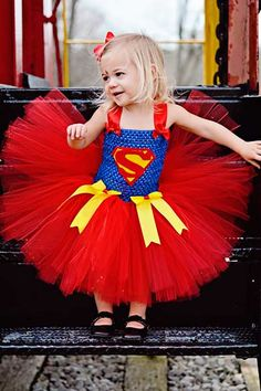 Super woman girls tutu dress for halloween. It's a bird.. It's a plane.. It's super girl and its adorable!
