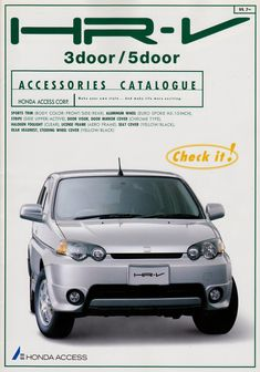 Honda HR-V Accessory Japan Brochure 1999