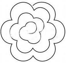 Znalezione obrazy dla zapytania róża szablon do wycięcia