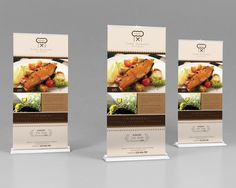 Roll-Up Banners Design by Wutip Bunting Design, Bussines Ideas, Box Mockup, Fine Dining, Rolls, Restaurant, Templates, Easy, Art Designs
