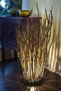 Driftwood Lamp, Driftwood Crafts, Wood Lamps, Handmade Home, Diy Home Crafts, Diy Home Decor, Branch Decor, Diy Furniture, Lamp Ideas