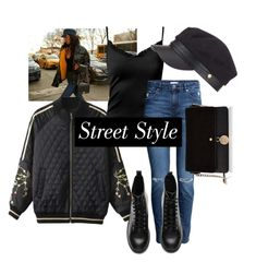 """Street Style"" by pramesvvari ❤ liked on Polyvore featuring Sans Souci, H&M, Miss Selfridge, contestentry and nyfwstreetstyle"
