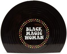 SARAH'S BAG Black Magic Woman Perspex clutch