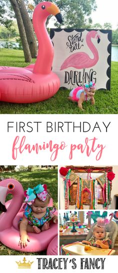Flamingo Party Decor Ideas by Tracey's Fancy - Planning a Flamingle Kids Birthday Party Invitations, Birthday Party Games, First Birthday Parties, Birthday Party Decorations, First Birthdays, Party Themes, Birthday Ideas, Party Ideas, Diy Birthday