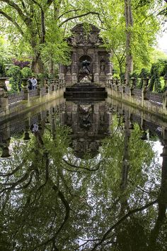 Fine art photography - Medici Reflections by Georgia Fowler Landscape Architecture Section, Places To Travel, Places To Go, My Academia, Nature Aesthetic, Adventure Is Out There, Paris, Aesthetic Pictures, Beautiful Places
