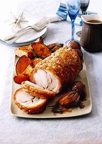 Recette de rôti de porc croustillant aux légumes caramélisés - L'EXPRESS