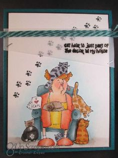 SC0652 Ai Crazy Cat Lady ... Art Impressions clear stamp sets available through Hampton Arts at Michael's craft stores.