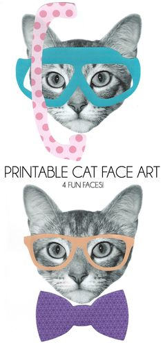 Printable Cat Face Art - Dream a Little Bigger