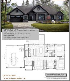 Modern Bungalow House, Bungalow House Plans, Ranch House Plans, Craftsman House Plans, Sims House Plans, Small House Floor Plans, New House Plans, Modern House Plans, 1500 Sq Ft House