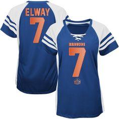 I want!!!!!  John Elway Denver Broncos Navy Hall of Fame Draft Him IV T-Shirt