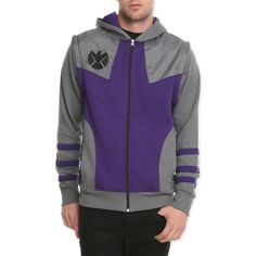 Marvel Universe Hawkeye Zip Hoodie | Hot Topic (58 CAD) ❤ liked on Polyvore featuring tops, hoodies, avengers, jackets, jackets cardigans & coats, zip hoodies, zippered hooded sweatshirt, hooded pullover, sweatshirt hoodies and purple zip hoodie