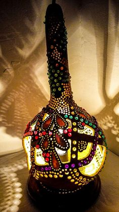 BLACK FRIDAY SALES Gourd lamp handcrafted Ottoman Turkish