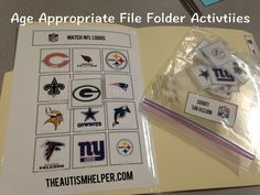 Age Appropriate Matching File Folder Activities {free} by theautismhelper.com