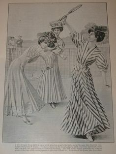 """The Girls Own Annual 1906-1907 Part 2 """"How a Girl Should Dress""""   Tennis Outfits"""