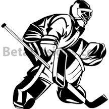 Free Hockey Silouette Hockey Goalie Goaler Silhouette