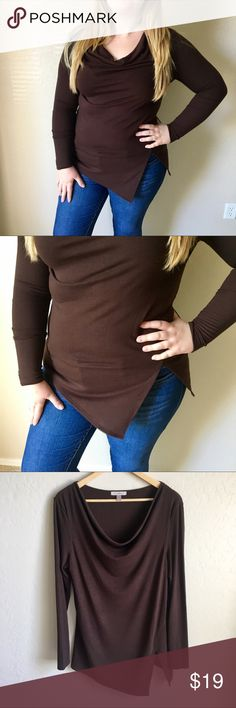 🔥BUNDLE OF 2 SWEATERS. COWL NECK SLIT SWEATERS L This is a bundle of 2 cowl neck sweaters one brown and one orange, super cute with some ankle booties for the fall and winter! COWEL neck with slit on the side and long sleeve! Both are the exact cut and style! Both size large! Model normally wears XL / 1X. Both of the sweaters are Large. This bundle will not last long! Sweaters Cowl & Turtlenecks