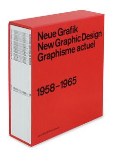 "Neue Grafik, the ""International Review of graphic design and related subjects,"" was initiated by designer Josef Müller-Brockmann and published in eighteen issues between 1958 and 1965."