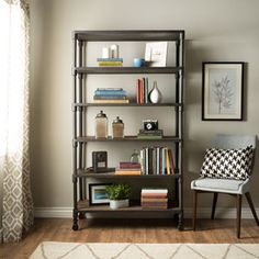Shop for Renate Grey Bookcase. Get free shipping at Overstock.com - Your Online Furniture Outlet Store! Get 5% in rewards with Club O!