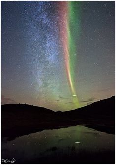 ✯ Milky Way and Aurora