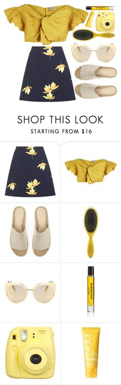 """Zzz"" by smartbuyglasses ❤ liked on Polyvore featuring Marni, Rachel Comey, Mint Velvet, Drybar, Quay, D.S. & DURGA, Fujifilm, Clinique and yellow"