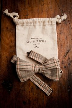 Bow ties by Mo's Bows