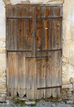 Beautifully worn wood door, Cyprus