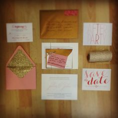 our wedding invitation suite! after party & save the date cards designed by me, invitations by shine wedding invitations