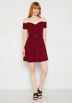 It's Bright Alright Dress in Merlot. The sweetheart neckline and…
