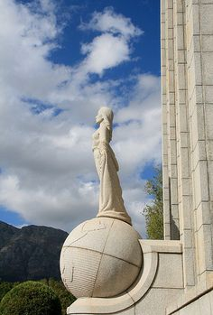 French Huguenot Monument in Franschoek - an integral part of the South African history.