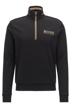 ab3ee729230 BOSS Sweat à encolure zippée 50392547 - Sweat-shirt Homme Hugo Boss