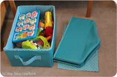 Collapsible Storage Bins Tutorial - Peek-a-Boo Pattern Shop