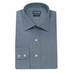Chemise coupe classique en Fil à Fil gris #chemise http://www.cafecoton.fr/chemises/10421-chemise-coupe-classique-en-fil-a-fil-gris.html
