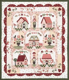 Follow Your Heart BOM Quilt Pattern Set of 6 by The Quilt Company