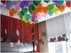 Cute birthday idea...fill office with balloons - each one has a personal note attached from a friend or family member.