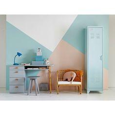 2a255fa1d88 afbeelding Bureau met 4 lades JIMI La Redoute Interieurs Pine Desk