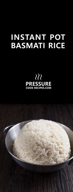 No more uncooked, burnt, or mushy Indian basmati rice. Make Perfect Instant Pot Basmati Rice in 25 mins! Easy, no soaking, set it & forget it. via @pressurecookrec
