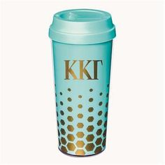 Kappa Kappa Gamma coffee tumbler comes in your sorority colors shown. Rush service is available. Add this piece to your greek accessories collection today by shopping with Something Greek and save money. Phi Sigma Sigma, Alpha Xi Delta, Kappa Kappa Gamma, Sorority Bid Day, Sorority Gifts, Sorority And Fraternity, Greek Gifts, Pi Beta Phi, Coffee Tumbler